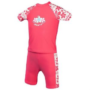 Girls Camelia Rose Surf UV Sun Protection Rash Vest and Swim Shorts UPF 50+